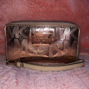 Michael Kors Rose Gold Wristlet